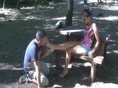 Public Shoelicker Slave