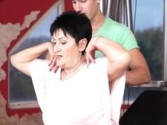 Anastasia & Oliver in Sexy Sweaty Grandma - 21Sextreme