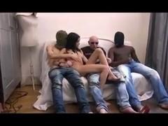 DZ  SKINNY FRENCH GANGBANG 01 NO ANAL