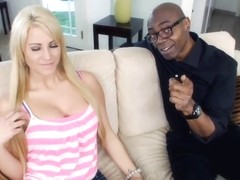 Jessica Nyx caressed by horny ebony fellow