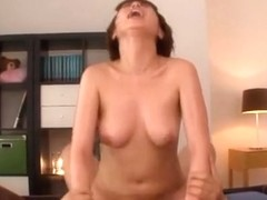 Rika Hoshimi nasty Japanese milf enjoys eating cock