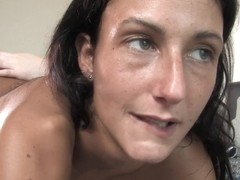 Black lesbian snatch farts during anal fingering
