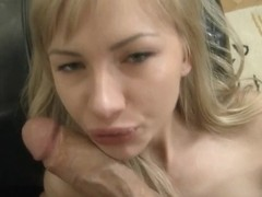 Rocco puts his big fat dick inside a blonde's tight ass