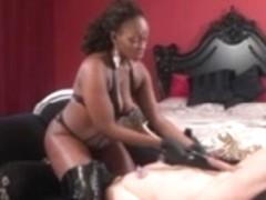 Black mistress sounding slave