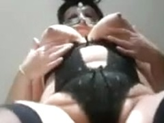 Big natural tits are shaking in amateur adult video