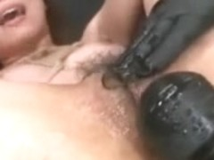 Sextoy Gang Gangbanged Unshaved Oriental