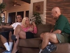 Sexually Excited old spouse watches his hawt blond wife fuck a darksome fellow