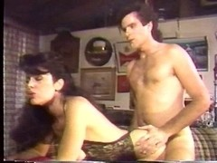 Vintage porn movie shows a great fuck with a brunette