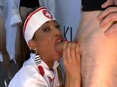 Ebony Nurse Mimi sperm treatment - German Goo Girls