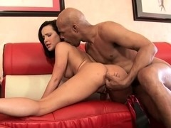 Katie St Ives spreads her legs for a bald nigger