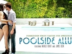 Natalie Heart & James Deen in Poolside Allure Video