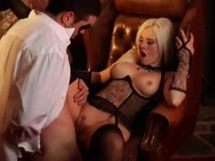 British Floozy Syren Sexton receives screwed in nylons