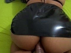 Spandex ass porn video with slut who loves anal fuck