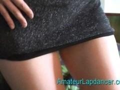 Horny redhead lapdance