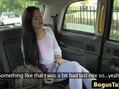 Stranded british amateurs creampie taxi fare