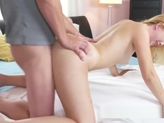 Dane Jones Squirting blonde beauty sucks and fucks her mans thick cock