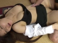 Fucking her in the missionary position with style
