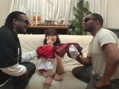 Japanese girl enjoy BBC DP