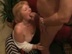 Aged granny wife plays and bonks