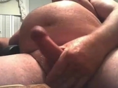 sexy grandpa long stroke and cum and taste his cum