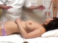 Turned on by massage Asian fucks masseur on voyeur cam