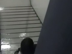 Dark Stairway is good place for public sex for horny Asians