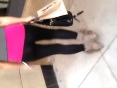 Sexy Asian Milf in see thru leggings
