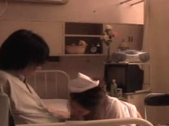 Blowjob and Japanese fucking from a hot naughty nurse