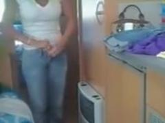 Girls with big tits filmed by voyeur