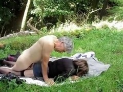 Screwing my mature wife in the open