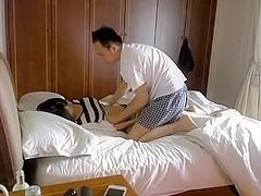 Non-Professional Asian couple make a sextape