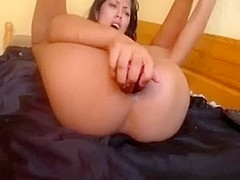2 Toys in Pussy and Ass