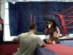 Aleska Diamond fucking her slutty friend after a good fight