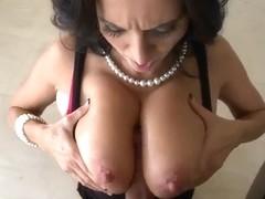 Dark haired milf Ava Addams is fucking on camera