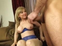 Sexy milf is pleasing young guy Daniel Hunter