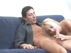 Sexy MILF seduces young guy by masturbating hard