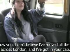 British brunette woman gets fucked hardcore style