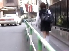 Long-haired Asian tramp gets stunned during wicked sharking attack