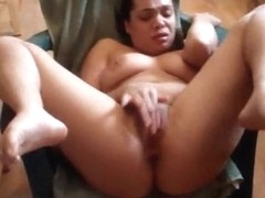 Horny girlfriend spreading her legs and masturbating her pussy