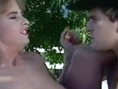 Kim Chambers picks a hot stud for a vintage public fuck