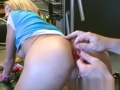 Blonde Teen Girl Tied Up And Ball Gagged For Dildo Fun