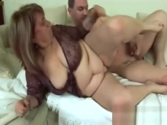 Fat Blonde Granny Enjoys Blowing Long Schlong