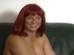 Redhead dilettante Mother I'd Like To Fuck sucks pecker with cum on milk sacks