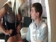 Mature MILF blonde gets her way with younger boyfriend