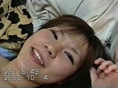 japanese non-professional legal age teenager receives screwed and creampied