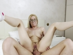 She Is Nerdy - Aurora Sky - Nerdy perky blonde fucked good