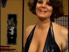 Cougar with big tits in gang bang with squirting at the end