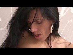 married milf  riding a hot cock on the bed deep and hard