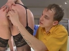 Russian big beautiful woman-Granny anal by juvenile Chap