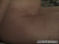 Busty amateur girlfriend gangbang with a paper bag on her face